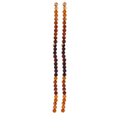 Red & Black Dyed Agate Round Bead Strands