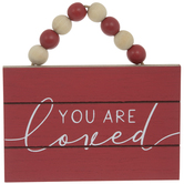 You Are Loved Wood Ornament