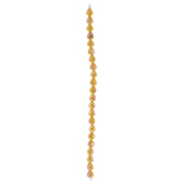 Yellow Teardrop Faceted Glass Bead Strand