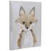 Gray & Brown Fox Canvas Wall Decor