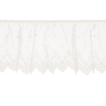 Ivory Ruffled Lace Trim