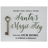 Santa's Magic Key Wood Decor