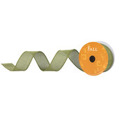 """Faux Linen Wired Edge Ribbon - 1 1/2"""""""