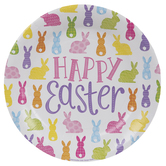 Happy Easter Bunnies Paper Plates