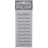 Gold Foil Merry Christmas Stickers
