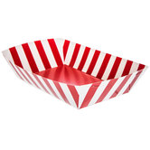 Red & White Striped Paper Food Baskets