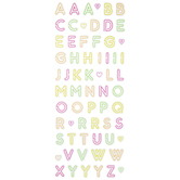 Neon Glitter Alphabet Letters Stickers