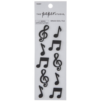 Black Music Notes Stickers