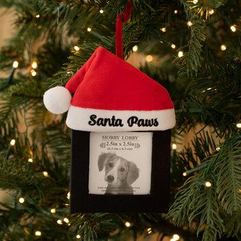 Santa Paws Frame Ornament