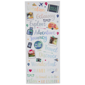 Vacation Sayings Foil Stickers