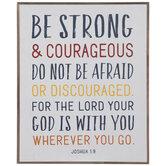 Joshua 1:9 Wood Wall Decor