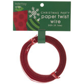 Red Merry Christmas Twist Tie Wire