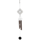 Bronze Medallion Scroll Wind Chime