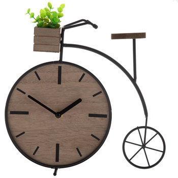 Black Bike Metal Clock