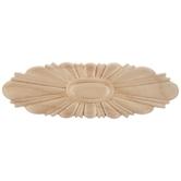 Oval Sunburst Wood Applique