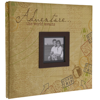 "Travel Adventure Post Bound Album - 12"" x 12"""