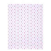 "White & Pink Hearts Scrapbook Paper - 8 1/2"" x 11"""