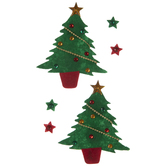 Christmas Trees & Stars Stickers