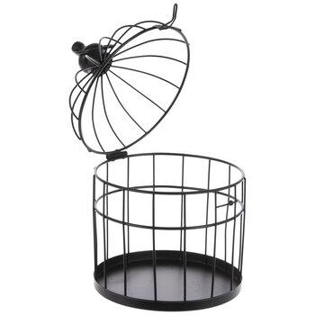 Matte Black Birdcage