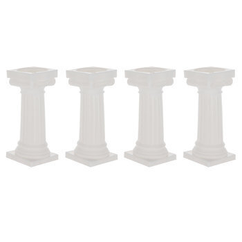White Grecian Cake Pillars
