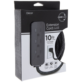 Black & Gray Extension Cord Surge Protector