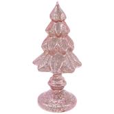 Pink Glass Christmas Tree