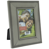 """Brushed Pewter Metal Frame With Dotted Edge - 3 1/2"""" x 5"""""""