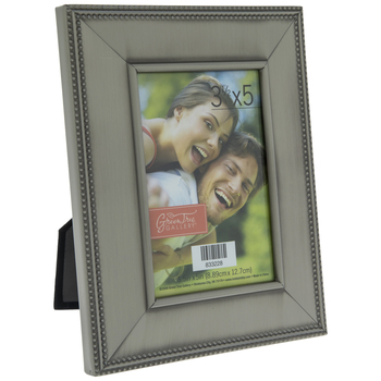 Brushed Pewter Metal Frame With Dotted Edge