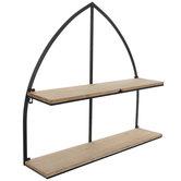 Metal Arch Double Wall Shelf
