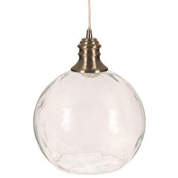 Round Hammered Glass Pendant Lamp