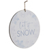 Let It Snow Wood Wreath Embellishment