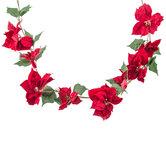 Red Velvet Poinsettia Garland