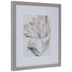 Pink Hibiscus Flower Framed Wood Wall Decor