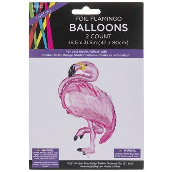 Flamingo Foil Balloons