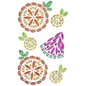 Pineapple, Orange & Watermelon Rhinestone Stickers