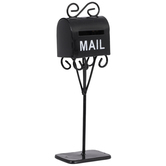 Miniature Black Metal Mailbox