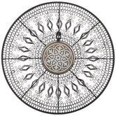 Mandala Metal Wall Decor