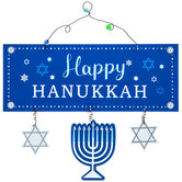 Happy Hanukkah Metal Wall Decor