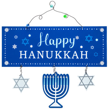 Happy Hanukkah Metal Wall Decor