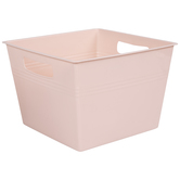 Blush Square Container With Handles