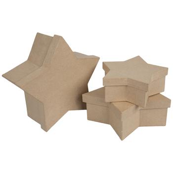 Star Paper Mache Boxes