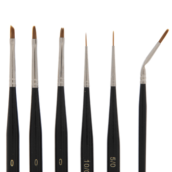 Hobby Paint Brushes - 6 Piece Set