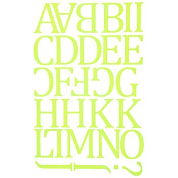 Camdon Polyvinyl Alphabet Iron-On Transfers