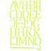 Lime Camdon Polyvinyl Alphabet Iron-On Transfers