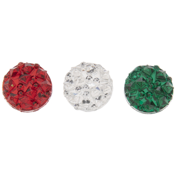 Red, Green & White Crystal Flatbacks
