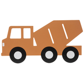 Orange Cement Truck Wood Wall Decor