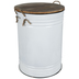 White Enameled Metal Container - Large