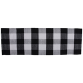Black & White Buffalo Check Rug
