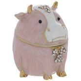 Pink Cow Jewelry Box