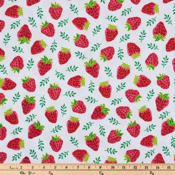 Strawberry Duck Cloth Fabric